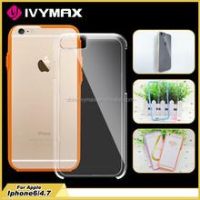 Transparent clear hard PC+TPU crystal case for iphone 6 bumper case