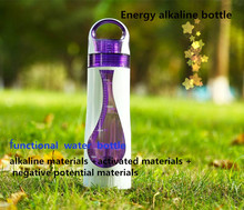 drinking water bottle with gray negative ions ceramic ball alkaline water
