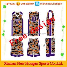 China manufacturer 100% polyester basketball jerseys