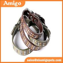 wholesale leather dog training collar,brown leather dog training collar,leather western dog training collar