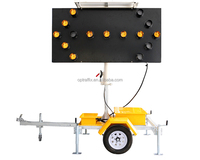 2015 4004 Led lamps Traffic Control Solar Power Mobile Arrow Board Trailer Sign LED Traffic Signal Light
