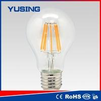china products edison bulb e27 8w LED filament bulb lamp