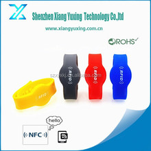 RFID 13.56mhz swimming silicone wristbands for racing timing