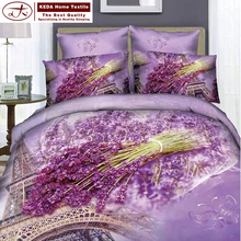 Floral design reactive printed flat sheet, fitted sheet, pillow cover for 3d quilt cover