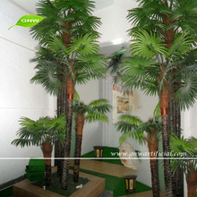 APM033 GNW artificial plastic palm tree leaves for outdoor decoration