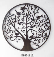 Metal Wall Plaque With Tree and Bird