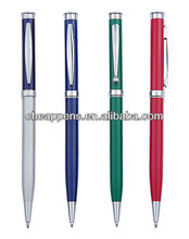 twist metal gift pen for hotel with logo printed