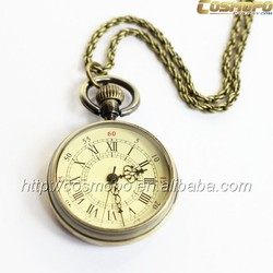 Vogue design your own round alloy pocket watch, low cost simple designed pocket watch