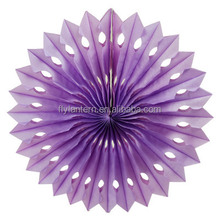 assort size and color honeycomb tissue paper fan