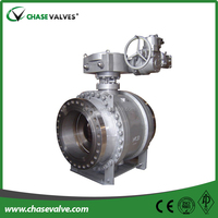 Worm Gear operated flange ends both trunnion and floating cast Steel ball valves