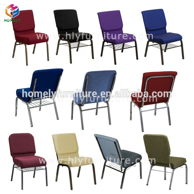 Cheap but strong metal used church chair sale