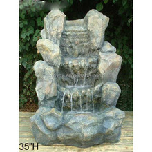 Beautiful rock design garden decoration water fountain
