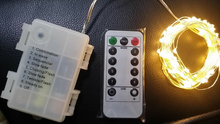 Multi functional remote control mini led string light for christmas decorations