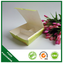 custom design print fast food box with compartment