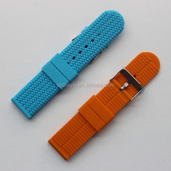 22MM 24MM Green Blue Orange Silicone Rubber Straps For 38mm 42mm SS Adapter