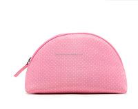 Cute Pink Polka Dots Cosmetic Makeup Bag Promotional Cosmetic Bag