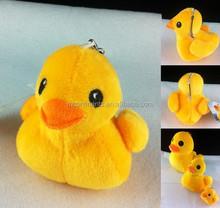10CM yellow duck plush doll with sucker, plush toys