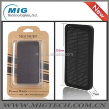 solar power bank 5000mAh Waterproof Anti-break Dust-proof Portable Solar Battery Charger For Cell Phone