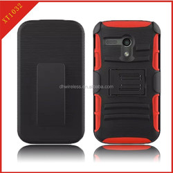 phone protector cover for motorola moto G XT1032 holster case,pc silicone hybrid case for moto G XT1032