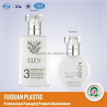 60ml Hot stamping surface plastic material acrylic perfume bottle