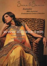 SANA & SAMIA EXCLUSIVE MID SUMMER EMBROIDERED COTTON COLLECTION 2012
