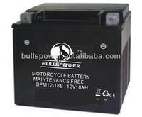 high performance agm three wheel motorcycle battery 12v 18ah