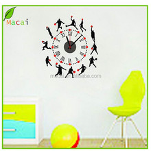 playing basketball DIY 3d wall sticker clock