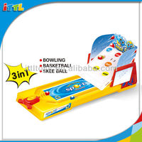 A61673 Kids Indoor Plastic 3 In 1 Ball Set Kids Ball Game