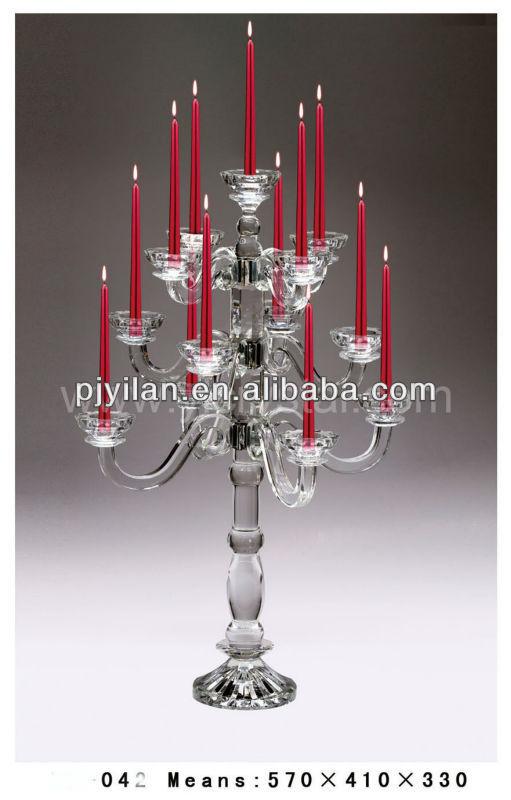 2013 novo design k9 cristal candelabro, casamento candelabros de cristal na venda
