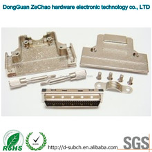 SCSI High Quality 50 Pin Male Connector,half pitch connector