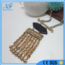 Acessórios de moda jóias mat ou anti ouro declaração de cobre colar pingente de metal
