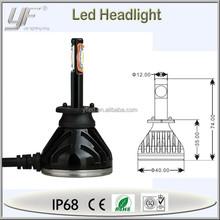 YF high power h1 headlight heat dissipation easy install 12v car led head lamp