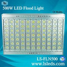 Outdoor LED basketball/ football/ golf court flood light 500W ETL TUV certificated 3 years warranty