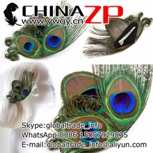 2015 newest design peacock hair clip feather fascinator bridesmaid hair accessory