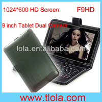 9.2 inch Android Tablet PC with 024*600 HD Capacitive Touch Screen and Dual Camera F9HD