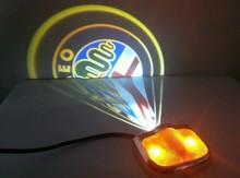 No drill led car logo door light