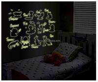 YISENNI cute animal kids removable wall stickers ABQ9613