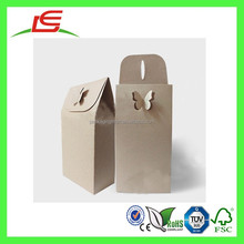 Q1198 Brown Kraft Paper Box Snack Food Packaging Bag With Butterfly Button
