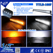 30 inch off road Flash wireless remote control color change white/amber led bar light 180W with remote control