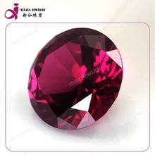 Diamond cut round #5 ruby low price of synthetic ruby gems loose ruby rough stone
