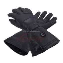 KCFIR far infrared electronic heated leather gloves