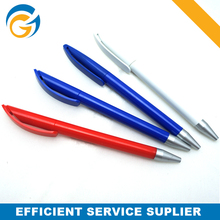 2014 Cheapest Simple Hanging Clip Plastic Ball Pen