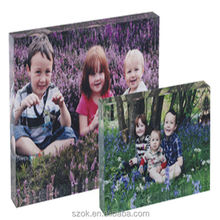 Clear acrylic material lucite gift crystal tabletop photo block wholesale