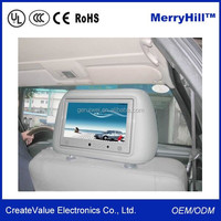 """Headrest/ Pillow 7"""" 9"""" 10 Inch TFT LCD Car TV Monitor With Android, 3G, WIFI, Touch Screen Optional"""