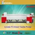 Banderas aplicaciones! Tw-2600f3 impresora textil directa 2.6 m impresión en gran formato