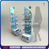 TSD-W761 promotion wooden mdf display stand for drugstore,floor acryl tray drugstore display stand,retail mdf drugstore display