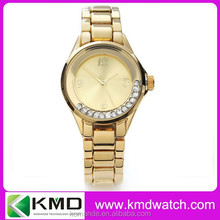 Rolled ball diamond metal band rose / gold silver color fashion avon quartz lady watches Jewelry clasp wrist watch