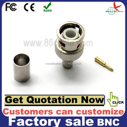 low attenuation rg11 bnc connector small MOQ