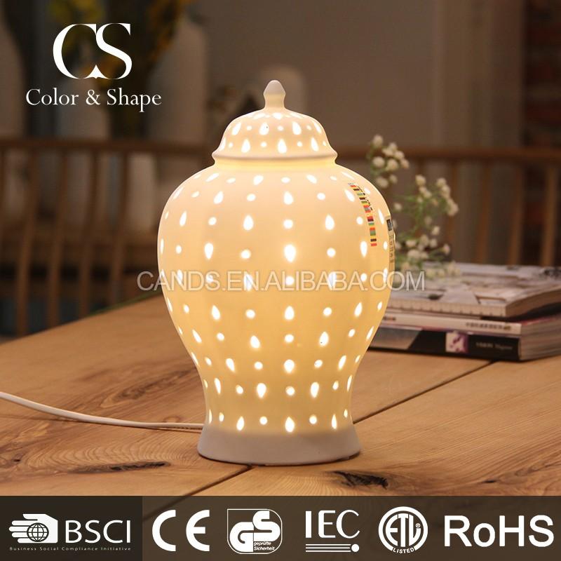 Jar form keramik tischlampe/moderne porzellan schreibtischlampe ...