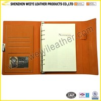 High Quality Luxury Fashion Bulk Hardcover Cheap Price PU Notebook Loose Leaf Leather Journal Diary Notebook
